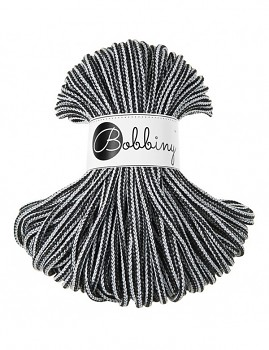 Bobbiny Cotton Cord Premium 5mm / 50m / Black & white
