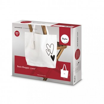 Bastelpackung: Basic Shopper Love, 46x35cm