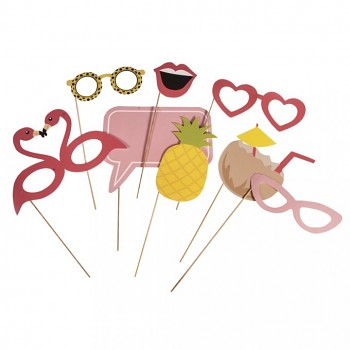 Party Masks Tropical / 8pcs