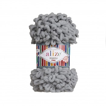 Alize Puffy Fine / 100g / 343 Coal Grey