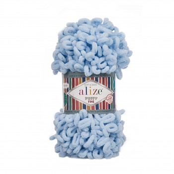 Alize Puffy Fine / 100g / 218 Baby Blue
