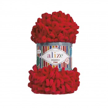 Alize Puffy Fine / 100g / 56 Red
