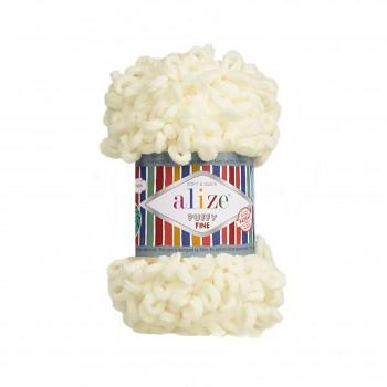 Alize Puffy Fine / 100g / 62 Light Cream