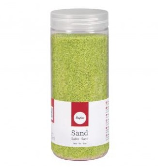 Sand, fine, 0.1-0.5mm, box 475ml, may-green