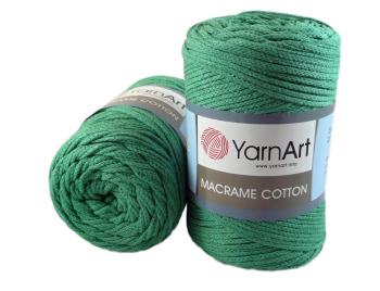 Macrame Cotton / 225m / zelená 784
