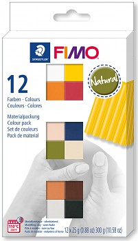 Fimo Soft sada 12 barev 25g NATURAL