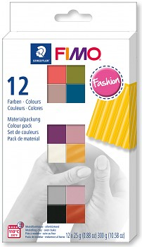 Fimo Soft set of 12 colours 25g FASHION