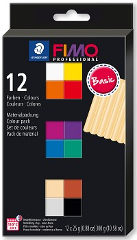 Fimo Professional 12 Colours 25g BASIC