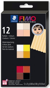 Fimo Professional 12 Colours 25g DOLL ART