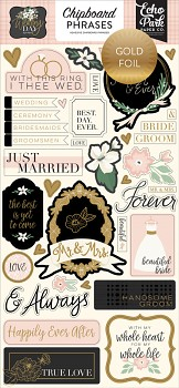 Wedding Day / Chipboard Phrases / 6x12""