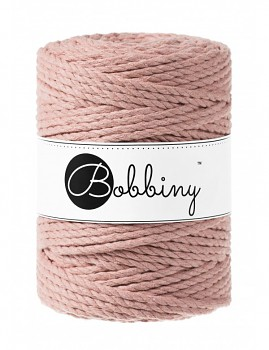 Macramé cord 3ply / 5mm / 100m / Blush