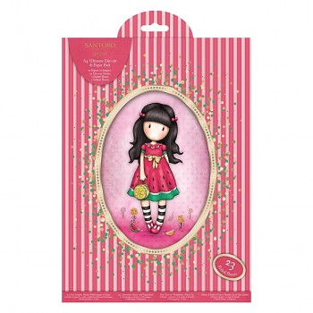 A4 Ultimate Die-cut & Paper Pack (48pk) - Santoro Gorjuss