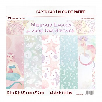 Sada papierov / Mermaid Lagoon / 12x12 / 48ks