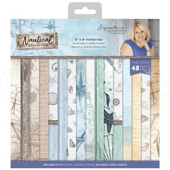 "Nautical 8x8"" Paper Pack / 48szt"