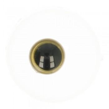 Oči - čierno-zlaté / 8mm / 10ks