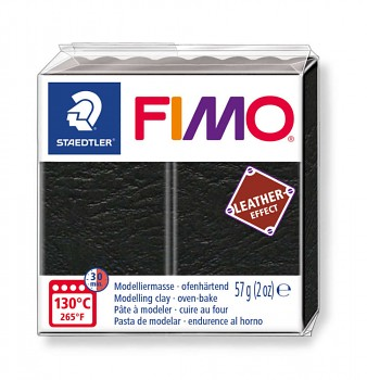 Fimo LEATHER black (909)