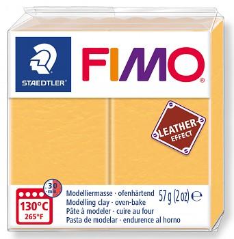 Fimo LEATHER saffron yellow (109)