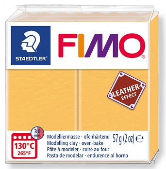 Fimo LEATHER saffron yellow (109)