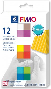 Fimo Soft sada 12 barev 25g BRILLIANT