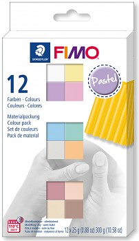 Fimo Soft set of 12 colours 25g PASTEL