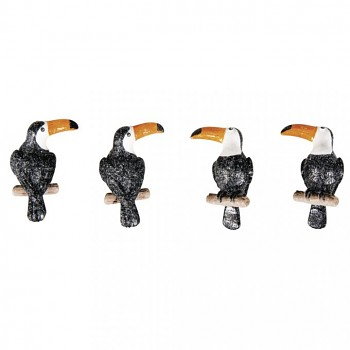 Miniatúrny tukan / 3x4,5cm / 4ks