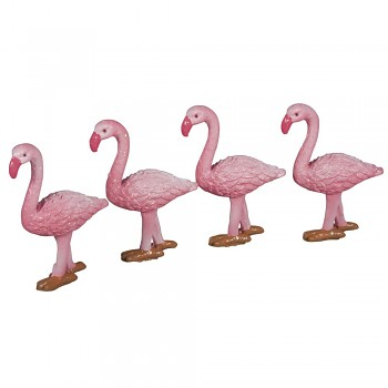 Polyresin Flamingo, 4x1.7x6.3cm, 3pcs