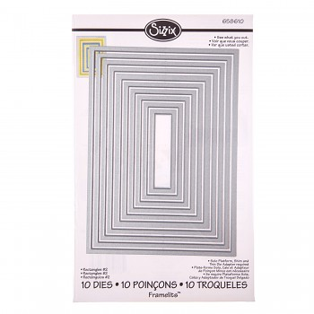 Framelits stencil set 10pcs /  Rectangles