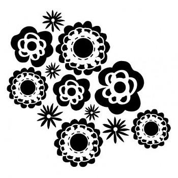 """Schablone / 6x6"""" / Wall Flowers"""