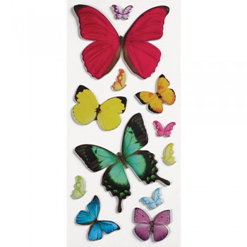 Sticker - Puffy - Butterflies