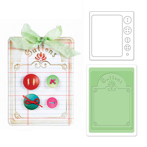Cut & Emboss Folder -  Button Card