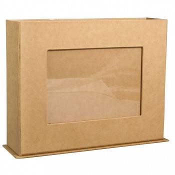 Krabica s rámčekom z papier maché / 19.5x5.5x15cm