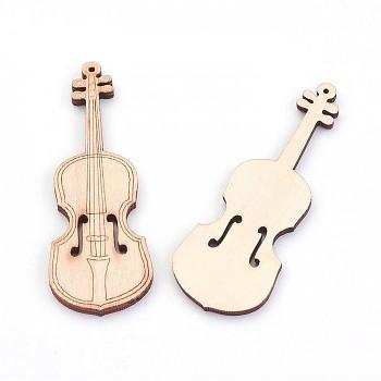 Wooden Violin 7,4cm / 10pcs