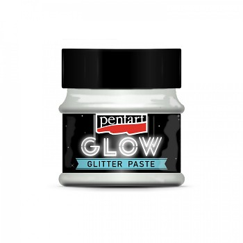 Glitter paste GLOW in the dark / 50ml / rainbow green