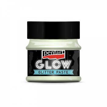 Glitter paste GLOW in the dark / 50ml / rainbow blue