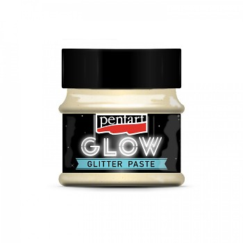 Glitter paste GLOW in the dark / 50ml / gold green
