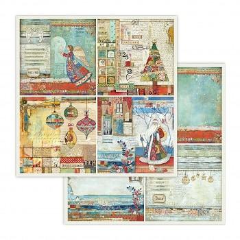 Scrapbookový papier / 12x12 / 4 frames Christmas