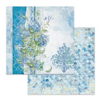 Scrapbookový papier / 12x12 / Flowers for you light blue background