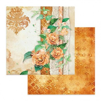 Scrapbookový papier / 12x12 / Flowers for you ocher background