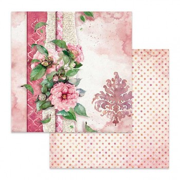 Scrapbookový papier / 12x12 / Flowers for you pink background