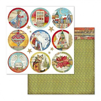 Scrapbookingpapier / 12x12 / Christmas rounds
