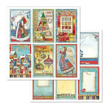 Scrapbookingpapier / 12x12 / Christmas cards