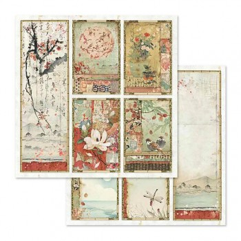 Scrapbookový papier / 12x12 / Oriental paintings