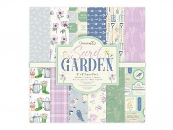 "Secret Garden 8x8"" Paper Pack / 30pcs"