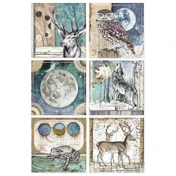 Rice decoupage paper A4 / Cosmos cards