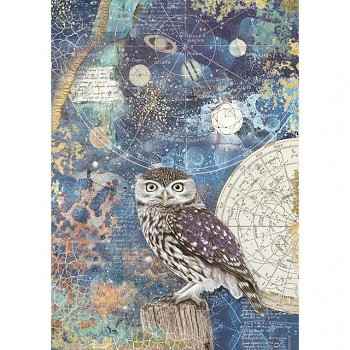 Rice decoupage paper A4 / Cosmos owl