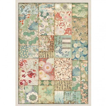 Rice decoupage paper A4 / Patchwork