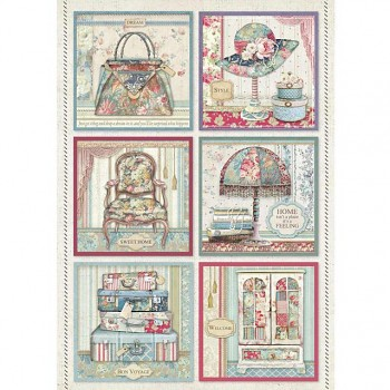 Rice decoupage paper A4 / Cards Grand Hotel