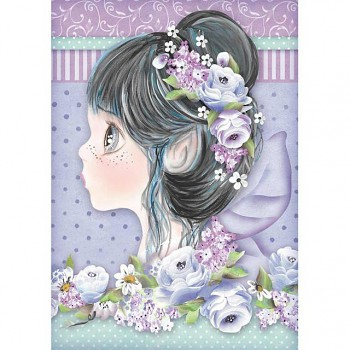 Reispapier A4 / Lilac fairy