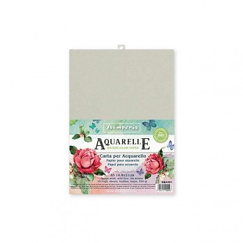 Conf. of 10 sheets Aquarelle paper A5 format / 350g/m2
