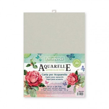 Conf. of 5 sheets Aquarelle paper A4 format / 350g/m2
